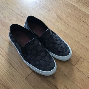 Coach canvas slip on shoes 7.5